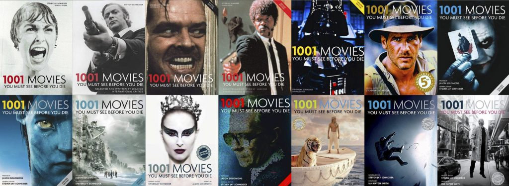 The multiple volumes of '1001 Movies You Must See Before You Die'