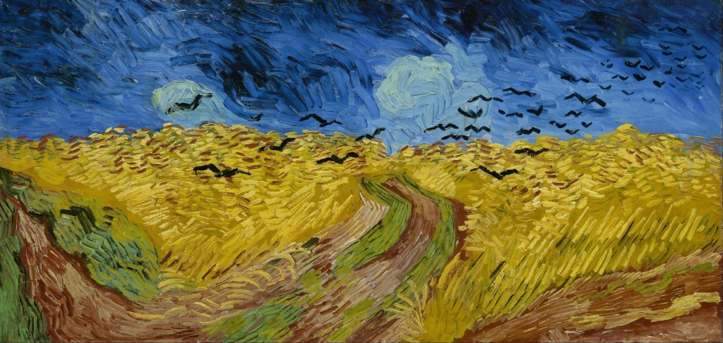 Vincent Van Gogh,Wheatfield with Crows, 1890