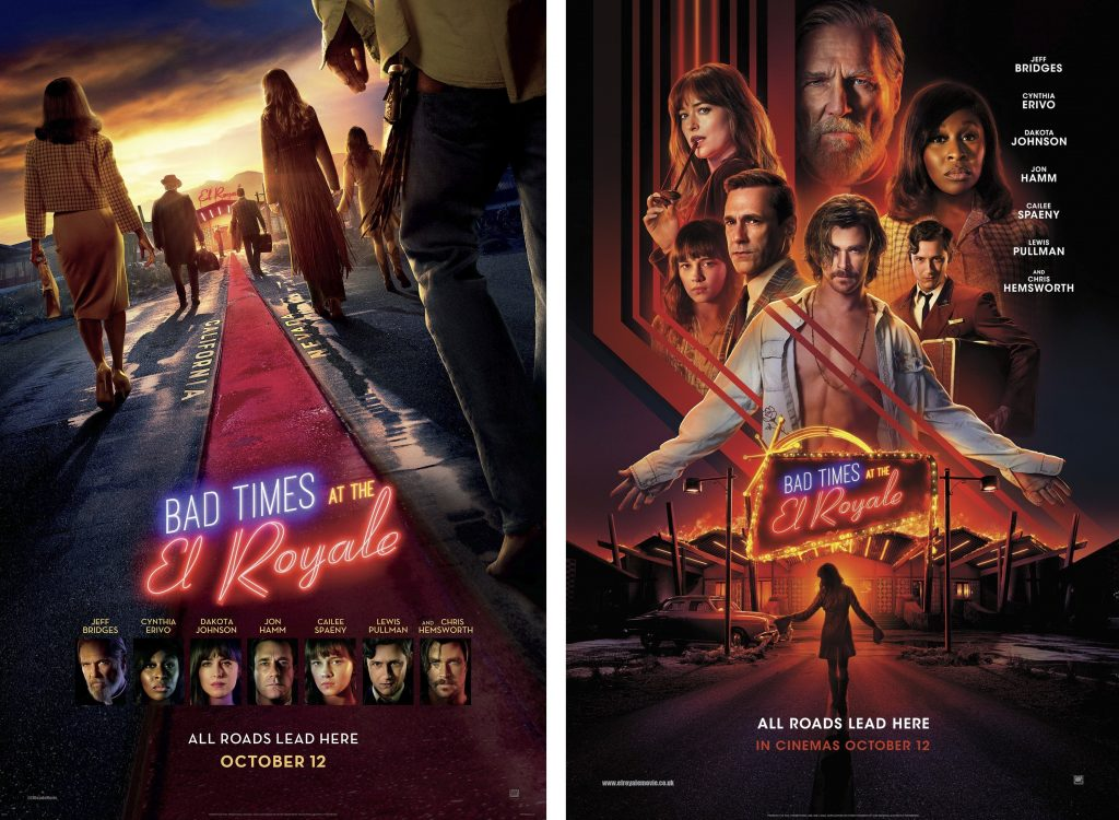 Movie Posters for Bad Times at the El Royale
