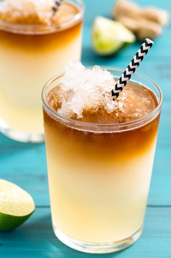 Frozen Dark and Stormy Cocktail