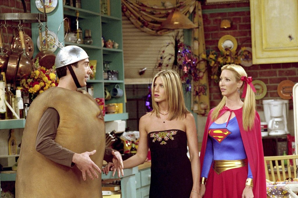 """The One with the Halloween Party"", Friends, Halloween party ideas"
