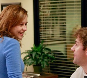 Jim and Pam from the Office on NBC