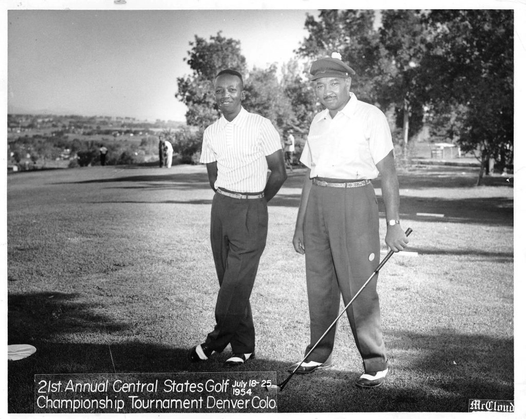 two men in golf shirts circa 1950