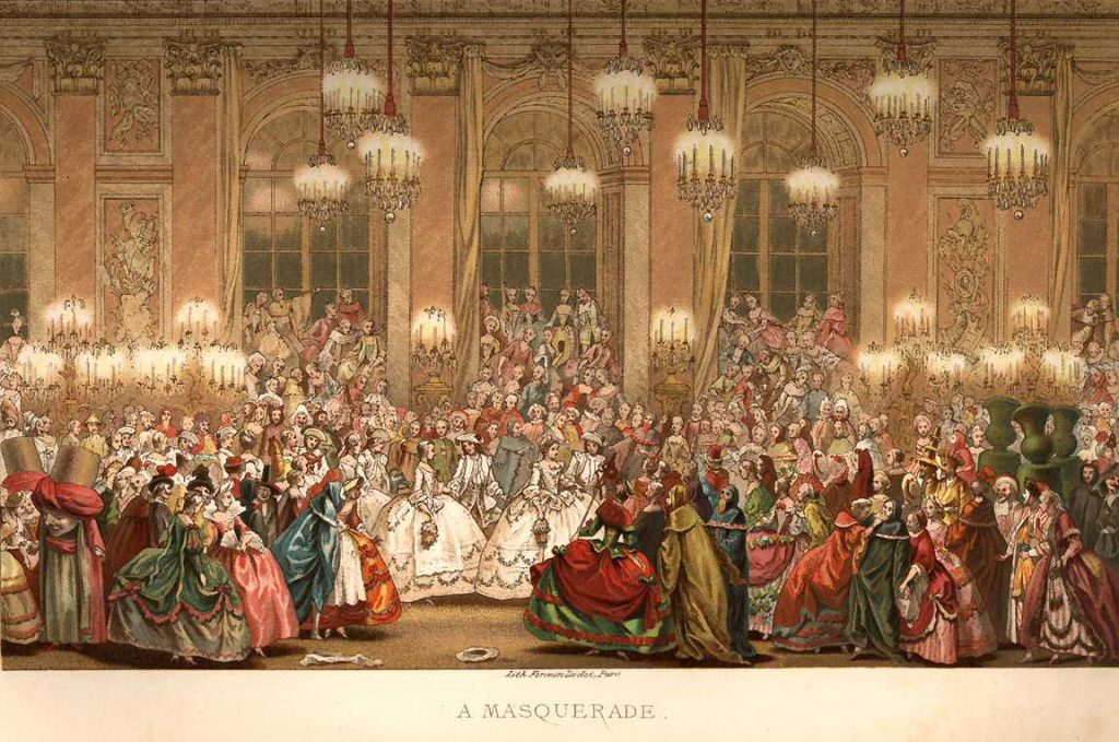 masquerade ball history, 18th century