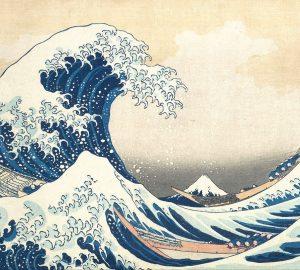 Japanese woodblock of ocean
